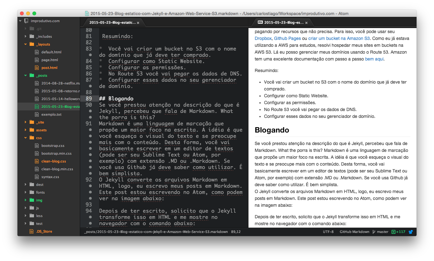 Preview Markdown, Atom Editor